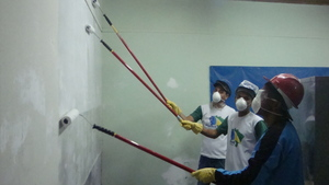Painting classroom.