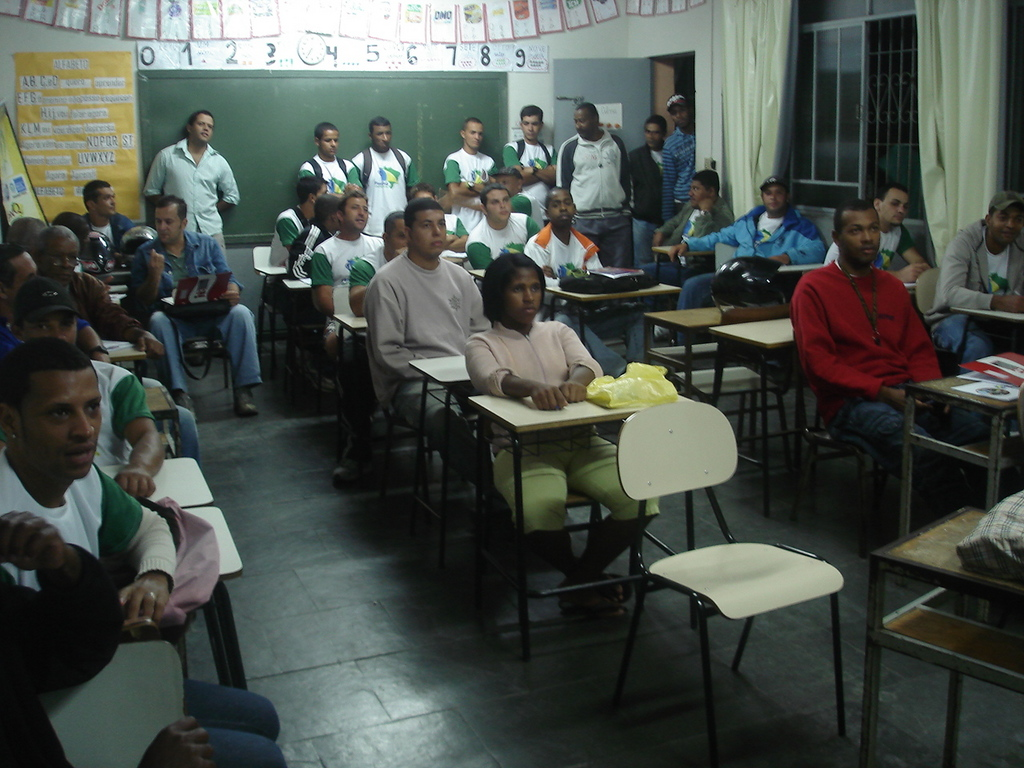 Attentive students on medical care conference.
