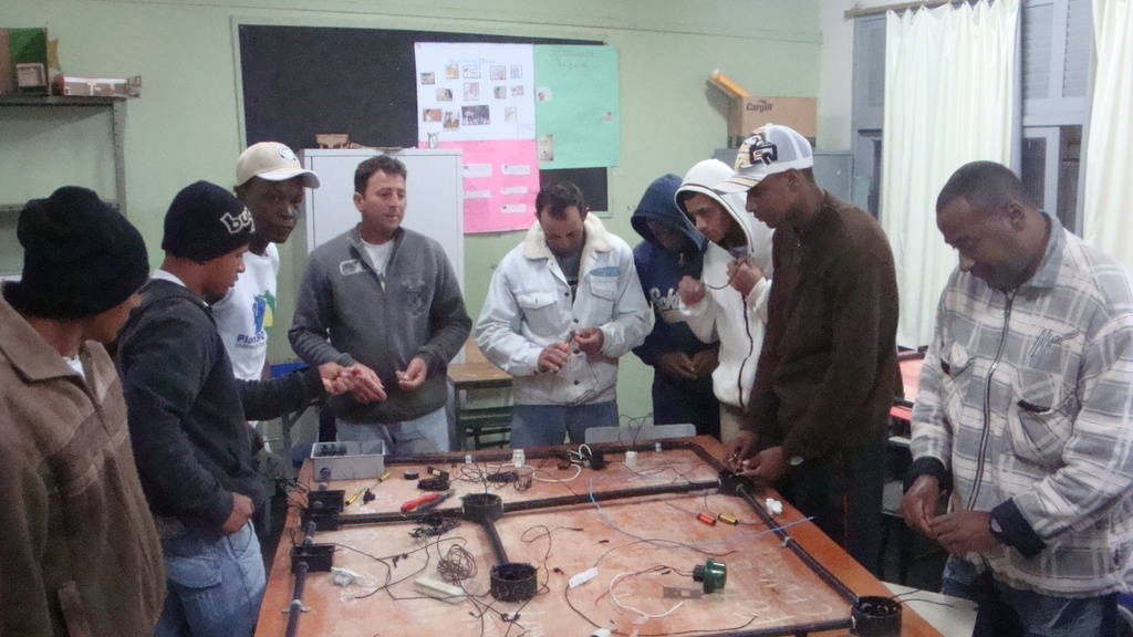 Electrician course. First course.