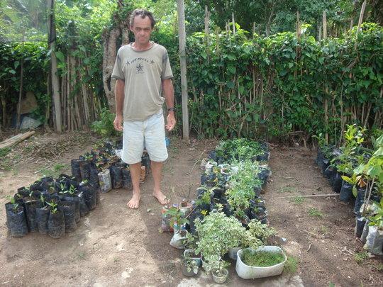 Antonio moved his seedlings to the new nursery.