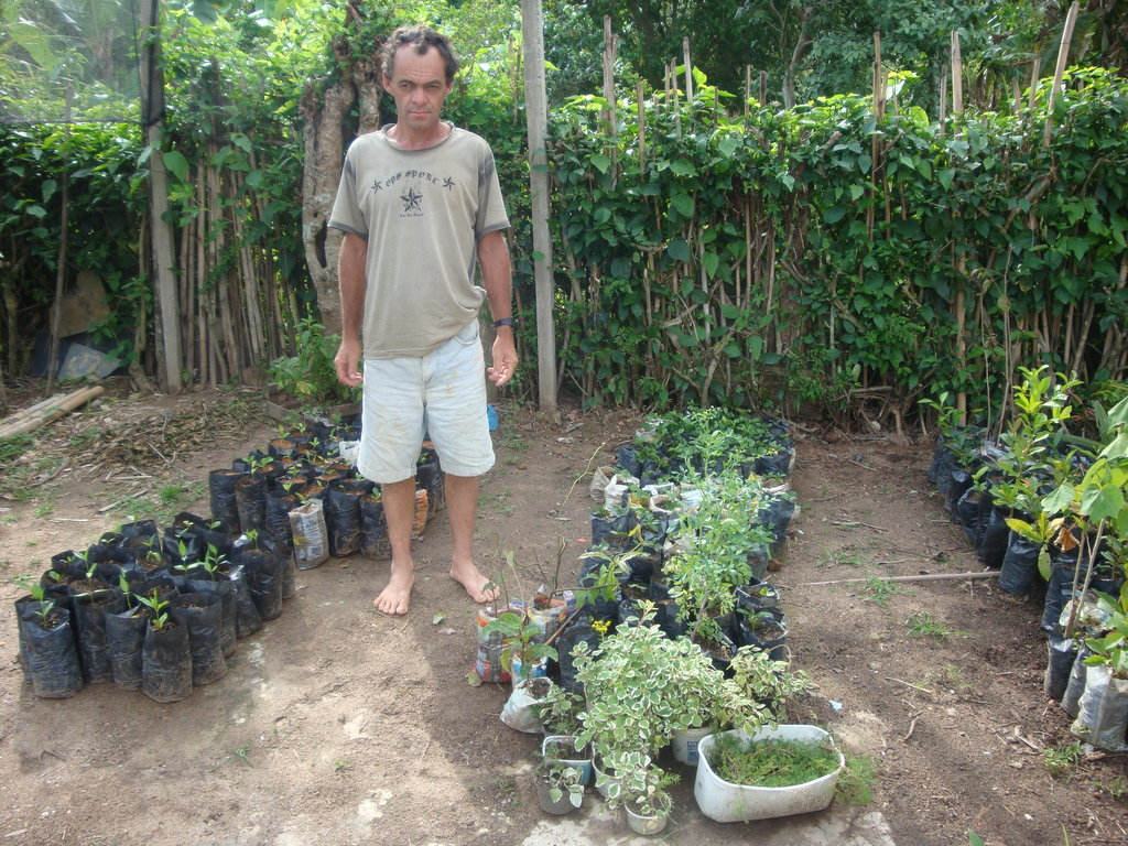 Antonio moved his seedlings to the new nursery.