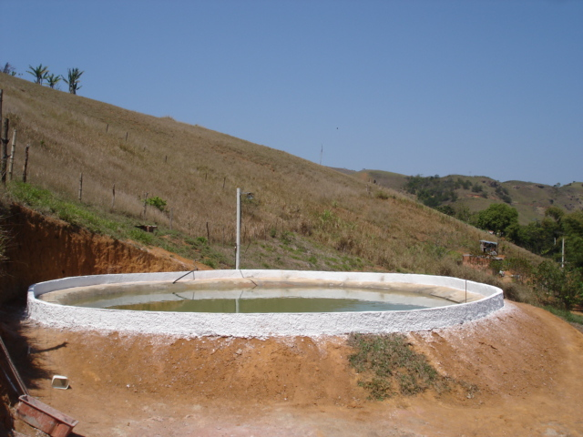 The irrigation tank is ready.
