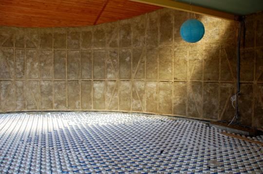 Floor heating is more efficient in large spaces