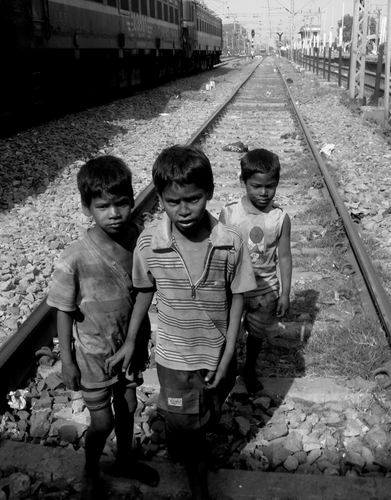 Railway Children at Gaya