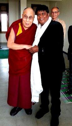 Deepak meets the Dalai Lama