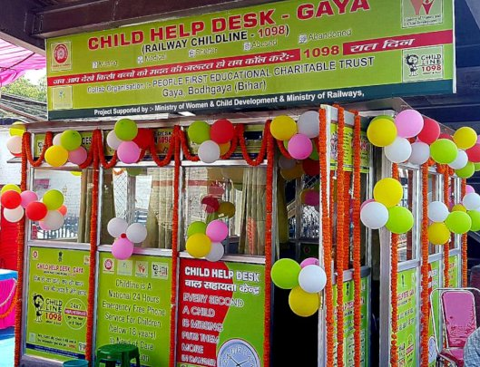 Our new child help desk at Gaya Junction