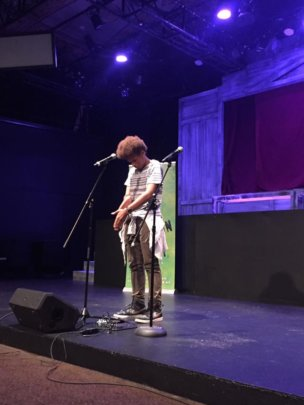 One of our youth performing at our Showcase.