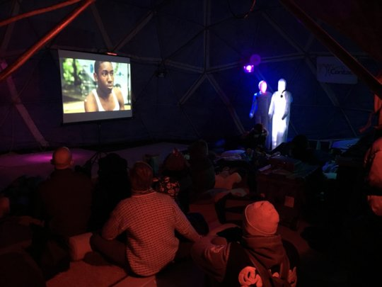 Fly By Light screening at Catharsis on the Mall
