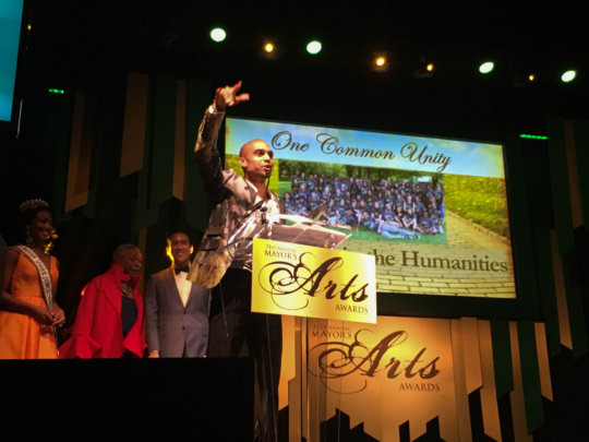 Receiving the prestigious Mayor's Arts Award!