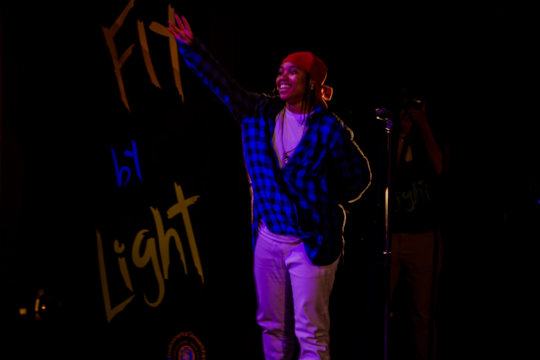 Young Zhy preforming at the Summer Showcase