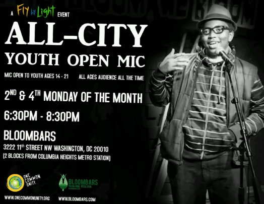 A poster for our bi-weekly Youth Open Mic