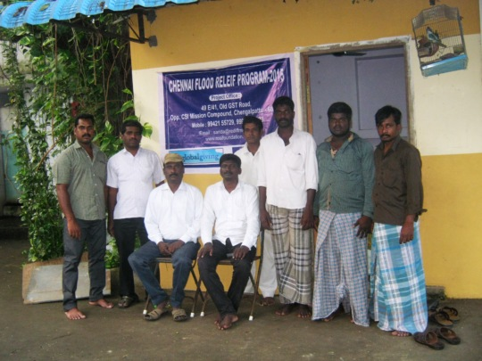 Our team in chennai relief works