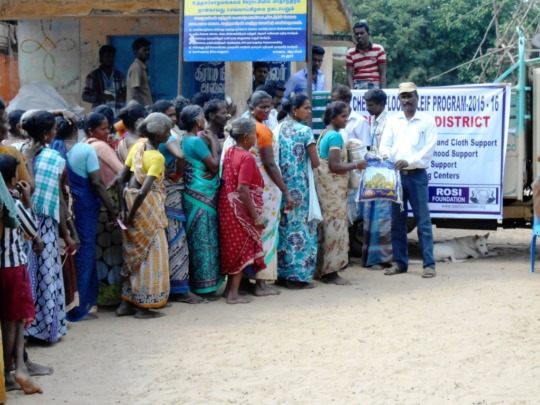 Relief work in Uthamacholapuram, Cuddalore dist