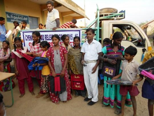 Children receive educational support at Kallimedu