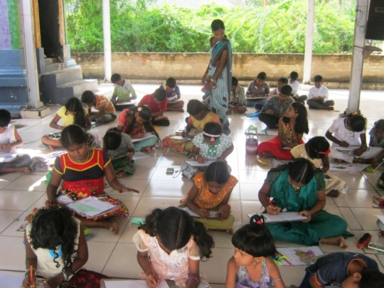 children in tuition /coaching centre