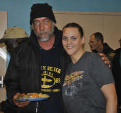 Tony with Chef Christina