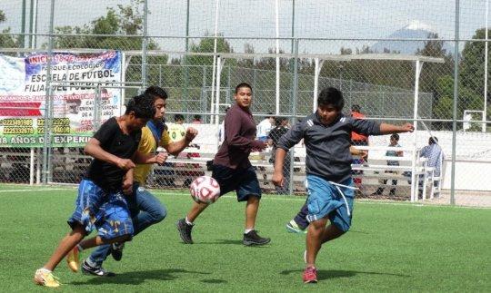 Young men also participate in sport activities