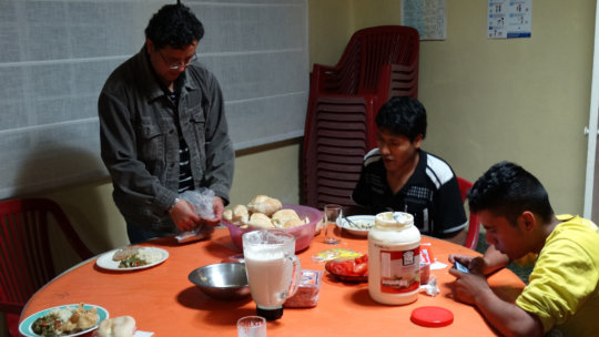 Cooking time at the Youth House
