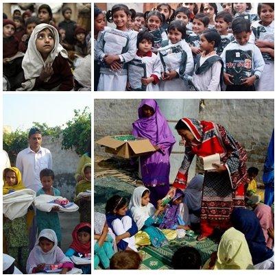 Figure 1: FMH Team distributing Eid gifts