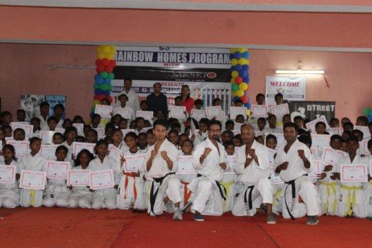 Karate Belt Test Participants