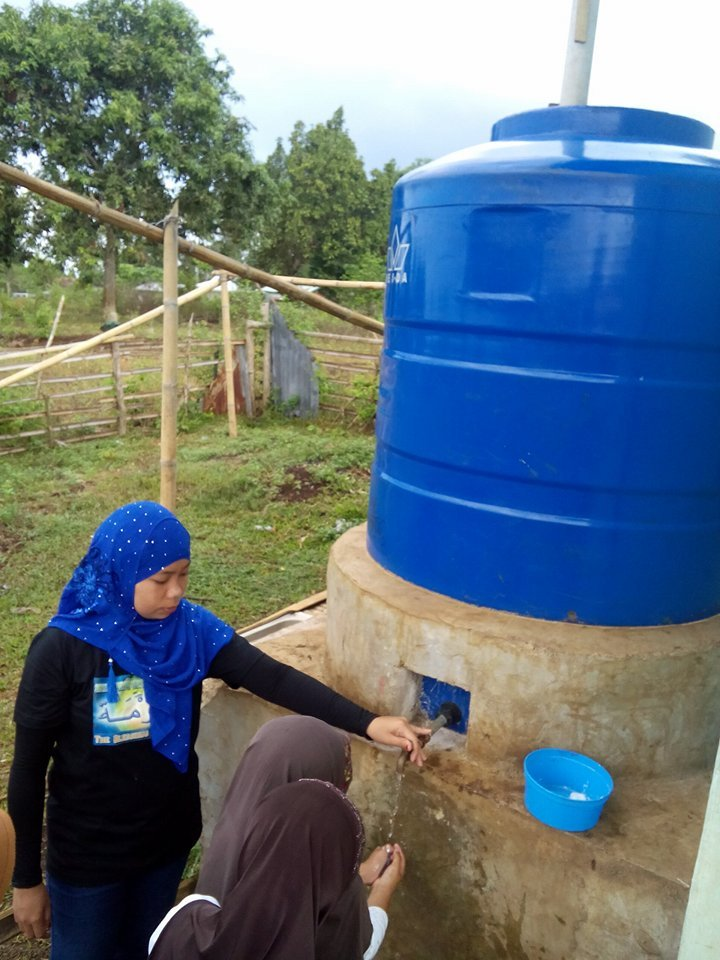 Rainwater tank at Sahaya Elementary School