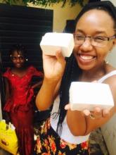 Peace Fellow Rose Twagirumukiza in Mali with soap
