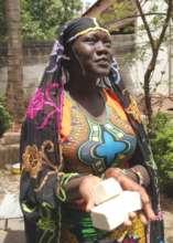 Aissata S makes soap at the Bamako Center