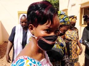 Making soap at the Bamako center