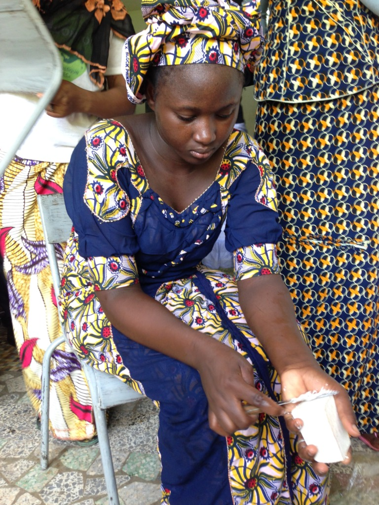 Shea butter soap is smoothed by hand