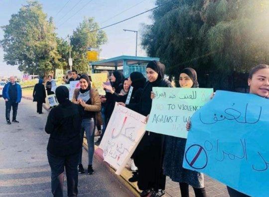 Protesting violence against women, Dec. 2018