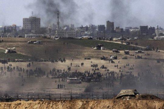 Protestors at Gaza