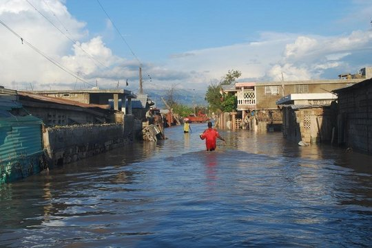 Flooding in central Gonaives