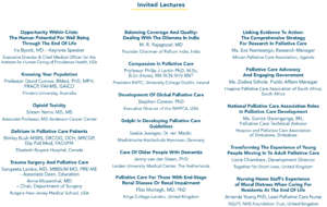 Donated Lectures from International Presenters