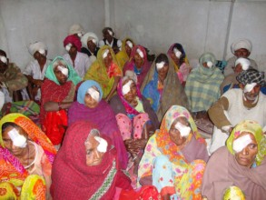 Patients at base hospital after surgery