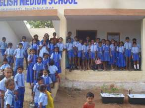 TGC students at Father Vijay's Middle School