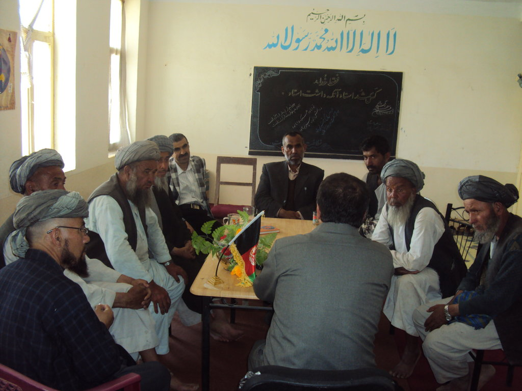 Qanjugha villagers dialogue with school officials