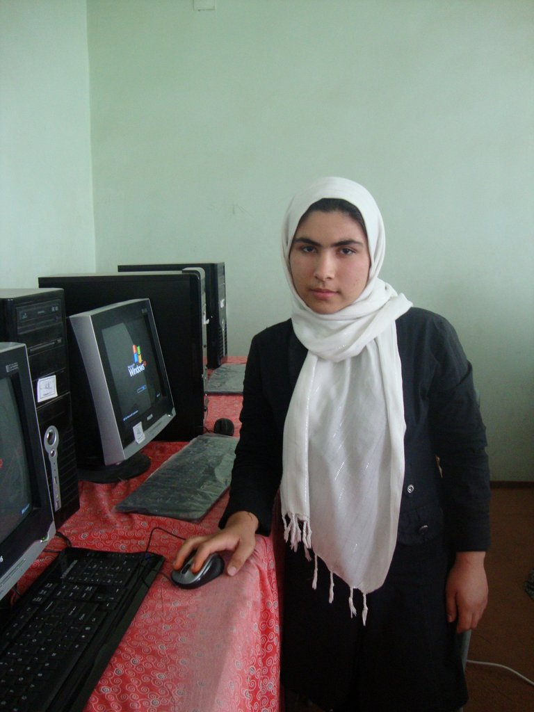 Salima in her computer class