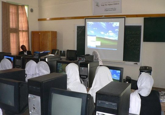 One of HTAC's computer education classes
