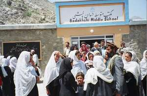 The opening of Badakhshi Middle School