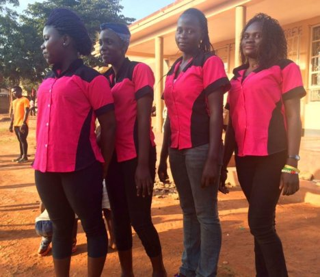 New uniforms sewed by the SHF Vocational Graduates