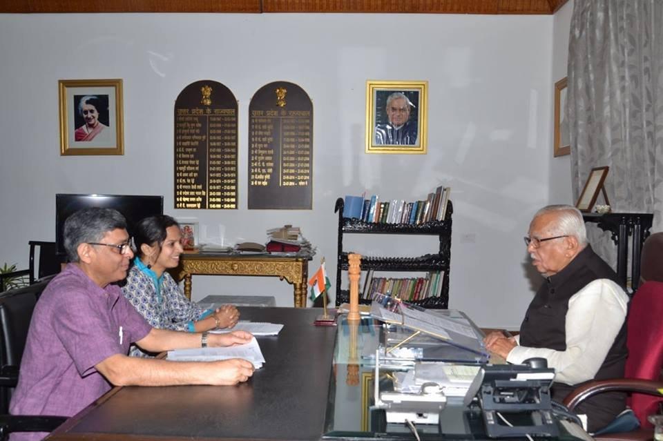 Meeting the Governor of Uttar Pradesh State, India