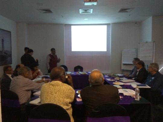 Dr.Arun Gupta  presenting breastfeeding status