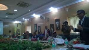 Dr.Arun Gupta (Extreme right) sensitizing officers