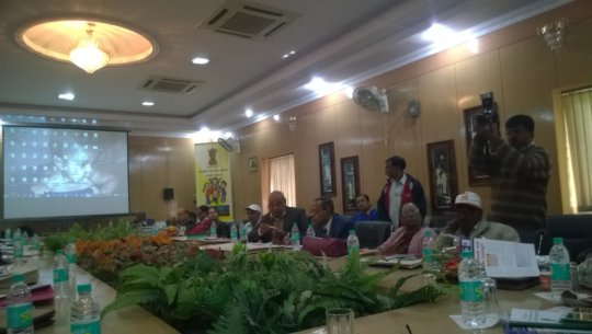 Jharkhand state officers at the advocacy meeting