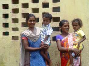 Mothers at the Aganwadi centre in Etah , Jharkhand