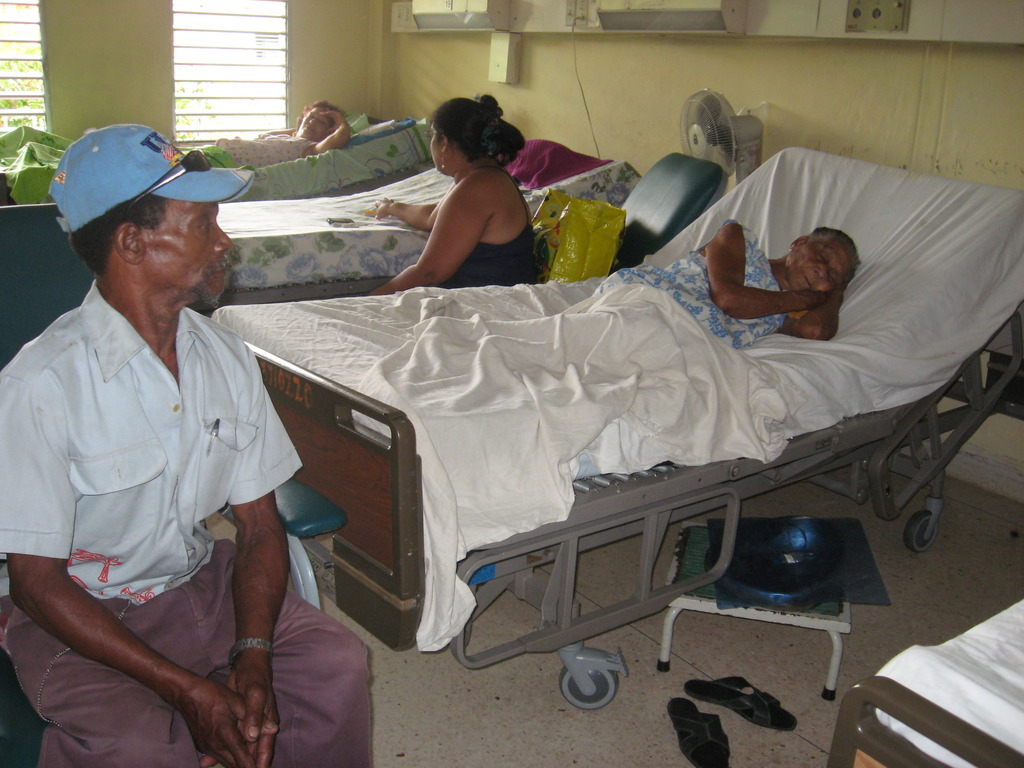 Global Links hospital bed in use