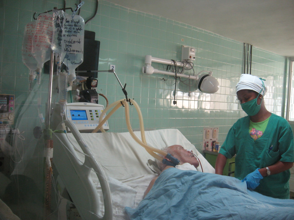 Global Links respiratory supplies in use