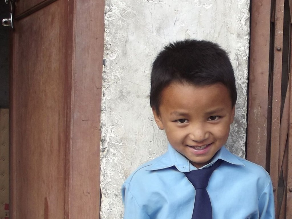 A Classroom for Rashan after the Earthquake