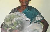 Sponsor food groceries to poor lonely elder women