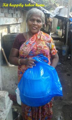 Emergency Flood Relief (Food) in slums of Chennai
